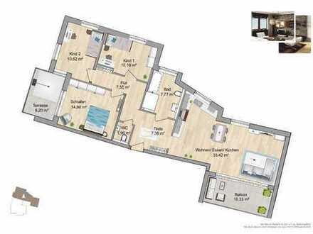 **Zwei Balkone, eine Wohnung, 108m² in ruhiger zentraler Lage**