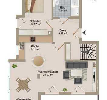 helle, großzügige Wohnung mit Wintergarten