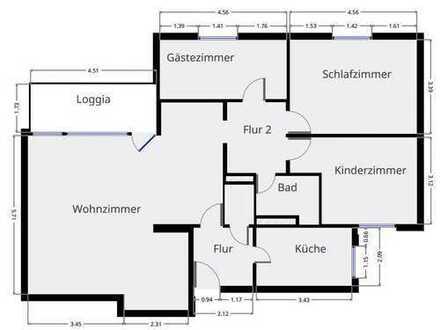 Unterliederbach/ Höchst: toll geschnittene, helle 4 Zimmer mit neuer EBK, Tiefgarage, Balkon