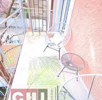 Mitten im Glockenbachviertel - Klassische 3-Zimmer-AB-Wohnung mit großem Balkon