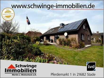 SCHWINGE IMMOBILIEN Stade: Familienhaus mit Vollkeller in ruhiger Lage von Himmelpforten