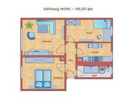 *Wieder verfügbar!* Ruhige 3-Raum-Wohnung