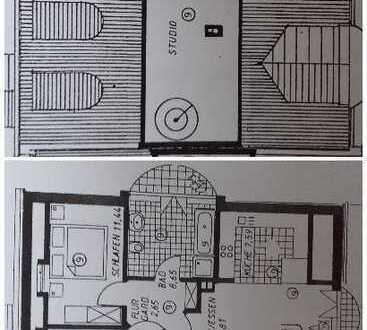 Vermiete möblierte 3-Zimmerwohnung mit hochwertiger Küche inkl. Küchenutensilien und Geschirr