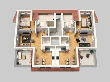 Große Dachterrasse und Fahrstuhl