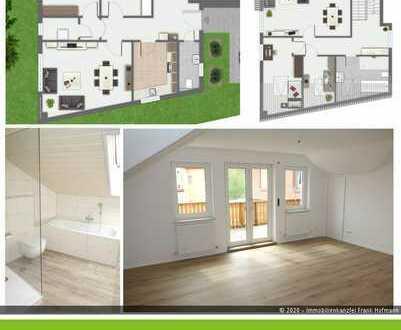 Erstbezug nach Sanierung - Maisonettewohnung mit Balkon bzw. kleines Haus in Laineck zu vermieten