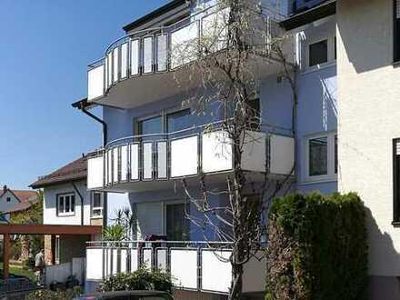 Remchingen-Singen, sonnige 3 Zimmer DG-Wohnung, Garage, Balkon mit toller Aussicht