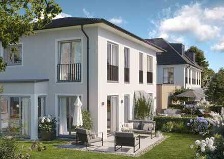 Variable Grundrissgestaltung: Stilvolle Doppelhaushälfte mit schönem West-Garten