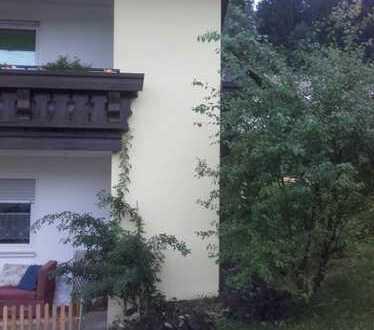 Vollständig renovierte Erdgeschosswohnung mit drei Zimmern sowie Balkon und Einbauküche in Gestratz-