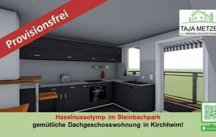 Ihr Haselnussolymp im Steinbachpark gemütliche Dachgeschosswohnung in Kirchheim!