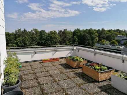 Penthousewohnung Schöne, ruhige 2-Zimmer-Wohnung mit Balkon, Terrasse XXL und Panorama-Fernblicke