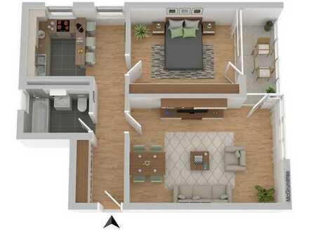 TOP-Immobilie: Gepflegte 2-Zimmer Wohnung Kapitalanlage oder Selbstnutzung möglich !