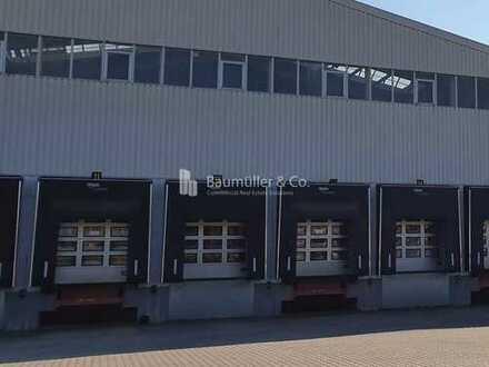 """BAUMÜLLER & CO."" - 5.000 m² Lagerhalle - Anbindung BAB 3 - Flughafen-Nähe"