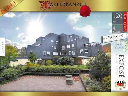 +++ NEU +++ Stilvolle 120 m² Wohnung mit Balkon; 4,5 Zimmer, anspruchsvolle Nachbarschaft; E-Heizung