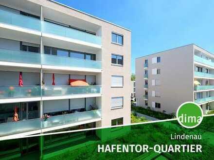 NEUBAU | HAFENTOR-QUARTIER + Gartenanteil + Terrasse + Duschbad + Parkett + TG + barrierefrei + Fbhz