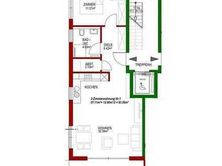 Neubau: 2-Zimmer-Wohnung mit Gartenanteil, Süd-West, hochwertige Ausstattung, EG