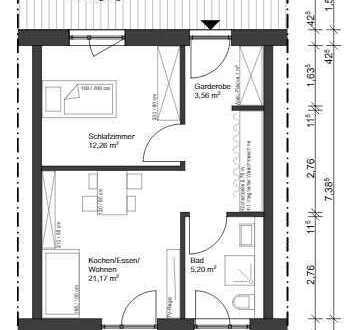 Erstbezug mit EBK und Balkon: exklusive 2,5-Zimmer-Wohnung in Maxhütte-Haidhof