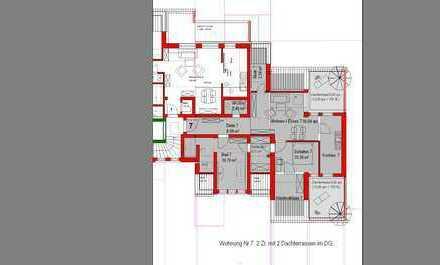 Neubau! Exclusive 2 Zimmer DG Whg. mit zwei großen Dachterrassen (Whg. Nr. 7)