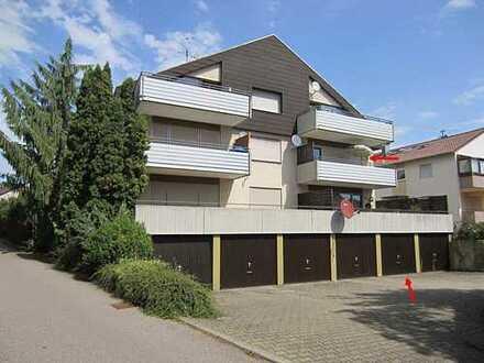 ***Schöne 1-Zimmer-Wohnung mit großem Sonnenbalkon und Garage