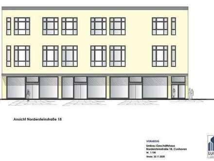 Büro- und Praxisflächen mit Fahrstuhl in der Fußgängerzone von Cuxhaven zu vermieten