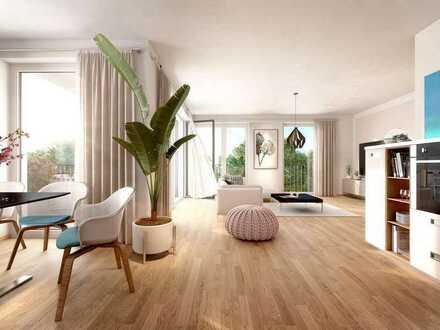 Großzügige 3-Zimmer-Wohnung im 2. Obergeschoss mit spektakulärem Balkon