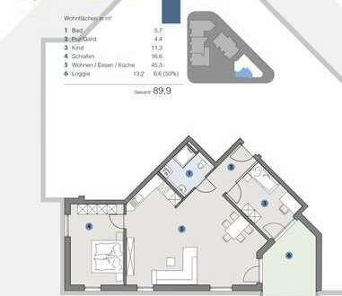 1. OG; Geräumige, helle Wohnung für Familien- T5 Wohnareal - fortschrittlich, nachhaltig, innovativ