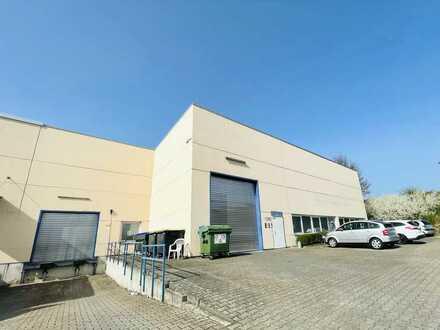 Hallenfläche in Krefeld-Oppum | ebenerdiges Sektionaltor + Rampe | Stellplätze