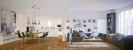 NEUBAU I 4-Zimmer-Wohnung mit Loggia und ca. 40 m² Garten I unverbauter Blick in den Aurachgrund