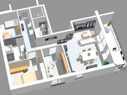 Südliche Lage mit Blick ins Grüne, 4 Zimmer-Neubauwohnung