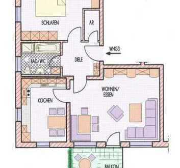 Gepflegte 3-Zimmer-Wohnung mit Balkon für Kapitalanleger oder Eigennutzer in Eschenbach