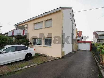 Zentrumsnah und saniert: Gepflegte 3-Zimmer-Eigentumswohnung zzgl. DG-Zimmer, Garage und Garten