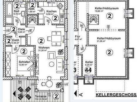 4-Zi.-ETW (2-Zi./2 Hobbyräume) mit Terrasse & Garten im Neubauprojekt in Saaldorf.
