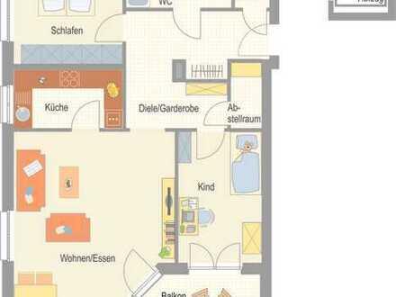 Erstbezug - helle 3,5 Zimmer Wohnung mit Süd-Balkon!