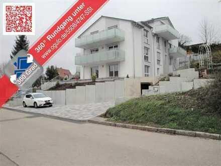 Moderne Neubauwohnung mit sehr großer Terrasse und kleinem Garten