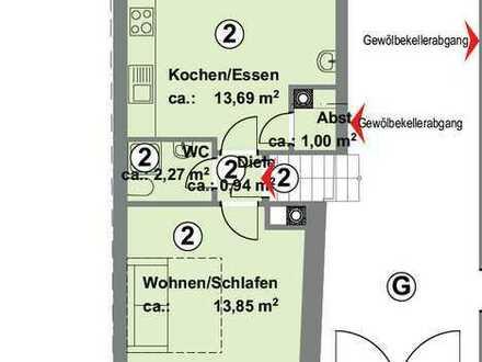 1-Zimmer-Wohnung in Karlsruhe-Durlach zu vermieten (Erdgeschoss)