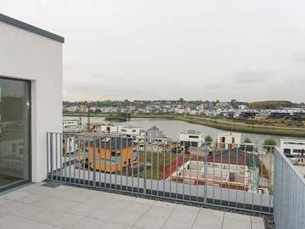 Penthouse-Wohnung am PHÖNIX-See, helle & anspruchsvolle 4-Zimmer mit hervorragender Dachterrasse