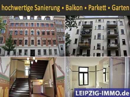 TRAUMHAFT WOHNEN IN GOHLIS: 3 ZKB mit Parkett, Balkon, Garten, TLB mit Wanne+Dusche