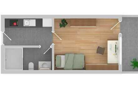 Schöne 1-Raum-Wohnung mit EBK und Balkon in Pforzheim