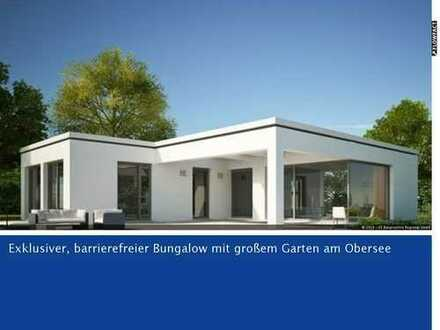 Exclusiver Bungalow KFW55 barrierefrei inkl. Grundstück 561m² - nahe Obersee