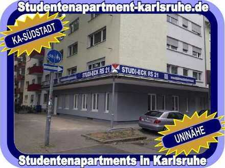 STUDIEREN IN KARLSRUHE = KOMPLETT MÖBLIERTES STUDENTENAPARTMENT IM STUDI-ECK RS 21 - NÄHE KIT...