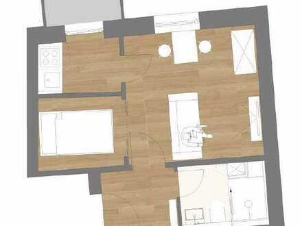 Vollständig renovierte 1,5-Raum-Wohnung mit Balkon und EBK in München-Ludwigsvorstadt-Isarvorstadt