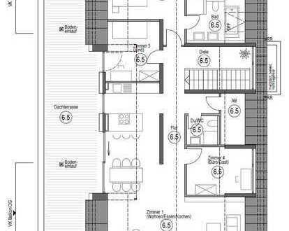 Erstbezug: exklusive 4,5-Zimmer-Penthouse-Wohnung in Nufringen mit großzügigem Balkon