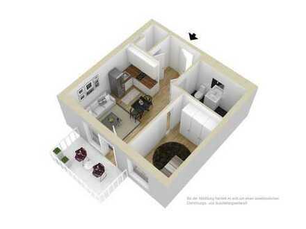 Bild_Junggesellenbude mit kleiner Küche und Duschbad für Senioren