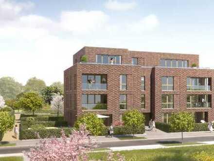 Erstbezug Neubau: Helle Drei-Zimmer Wohnung mit Süd-West-Loggia auf dem Stadtwerder