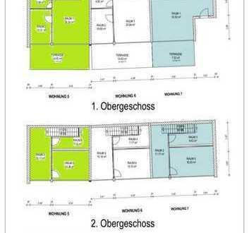 Hochwertige Maisonettewohnung.mit Terrasse (Nr.5), ca 83,27 m2-zentrale und ruhige Lage - Arztpraxis