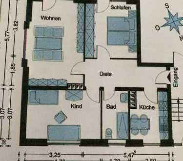 Langfristig vermietete 3-Zimmer-EG-Wohnung in Bestlage von Köln-Nippes