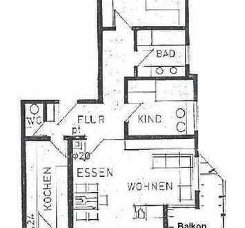 Großzügige und helle 3 Zimmer Wohnung mit Ausblick