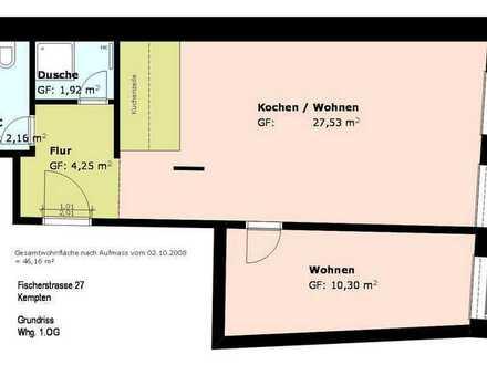 *möblierte 2 Zimmer- Wohnung* mit neuer EBK* Duschbad* sep. WC*