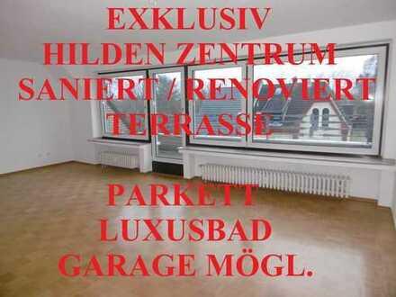 EXKLUSIV SANIERT LUXUSBAD (WANNE+DUSCHE) DACHTERRASSE PARKETT GARAGE MÖGLICH IN HILDEN ZENTRUM