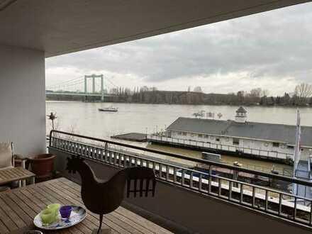 Rhein-km 683, wohnen mit Rheinblick mitten in Rodenkirchen
