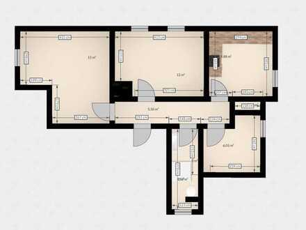 Günstige 3-Zimmer-Dachgeschosswohnung mit Einbauküche in Geislingen (Steige)